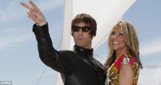 Liam Gallagher and wife Nicole Appleton