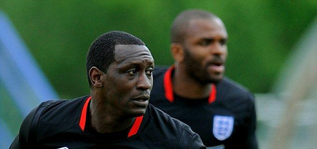 England World Cup hopefuls: Emile Heskey (left) and Darren Bent