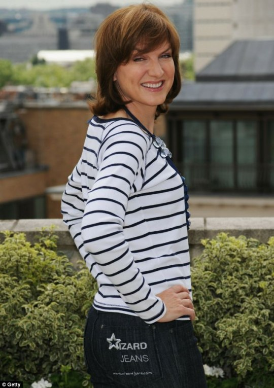 Rear Of The Year 2010 Fiona Bruce shows off her award-winning derriere