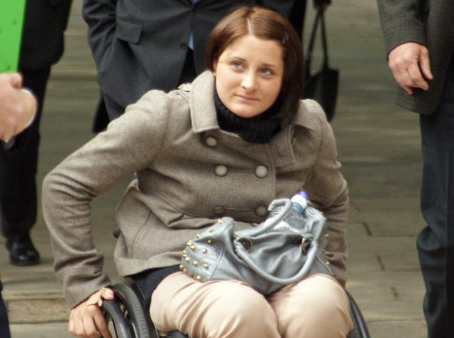 Wheelchair-bound Kylie Grimes