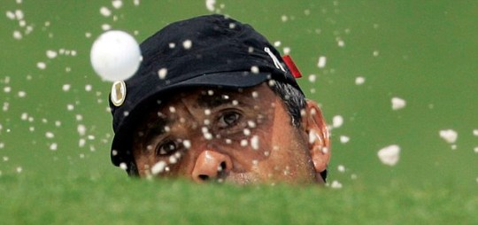 Seve Ballesteros brain tumour bunker shot golf ball chip