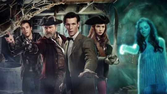 Doctor Who Hugh Bonneville Lily Cole as pirates