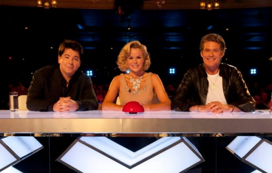 Britain's Got Talent Amanda Holden Michael McIntyre and David Hasselhoff at the auditions