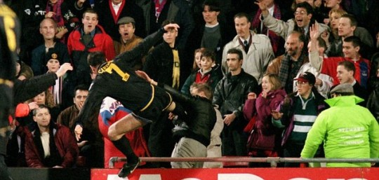Matthew Simmons, who was famously kicked by Eric Cantona, has been handed a suspended sentence