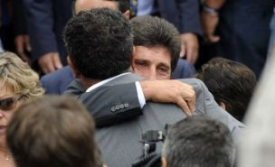 Jose Maria Olazabal at Seve Ballesteros funeral