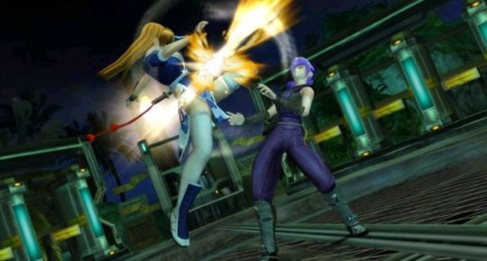 Dead Or Alive Dimensions (3DS) – defying physics