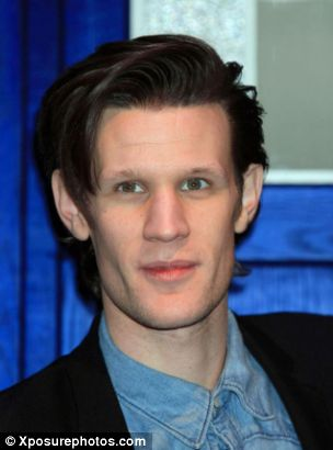 Clumsy: Matt Smith took a fall in his flat and was hospitalised after cutting his head open