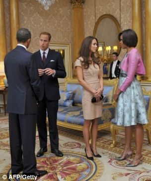Prince William and Kate Middleton meet Barack and Michelle Obama