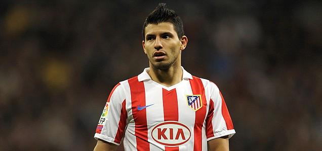 Atletico Madrid's Argentinian forward Sergio Kun Aguero