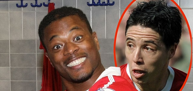 Patrice Evra wants Samir Nasri to join Manchester United
