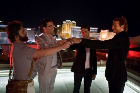 Doug (second right) with the rest of The Hangover gang (l-r) Alan (Zach  Galifianakis), Stu (Ed Helms) and Phil (Bradley Cooper) (Picture: Warner Bros)