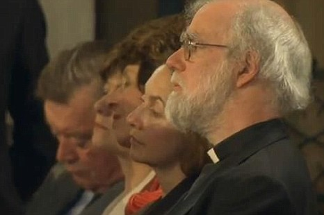 Justice secretary Kenneth Clarke (left) falls asleep during Barack Obama's speech