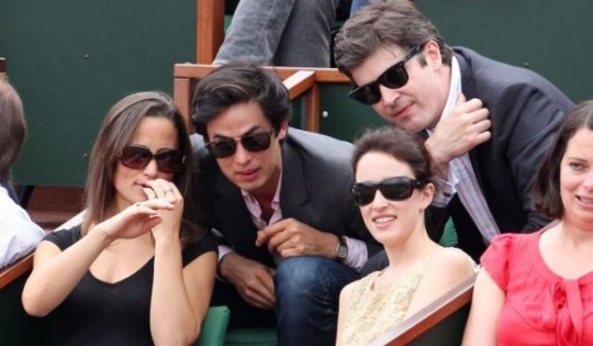 Pippa Middleton and friends enjoy the action at the French Open in Paris (Picture: Opticphotos)