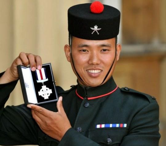 Victoria Cross Taliban British Army Royal Gurkha Rifles Machine gun Buckingham Palace