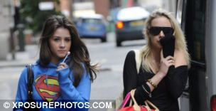 Coronation Street Girls Brooke Vincent and Sacha Parkinson after visiting a beauty salon in Manchester