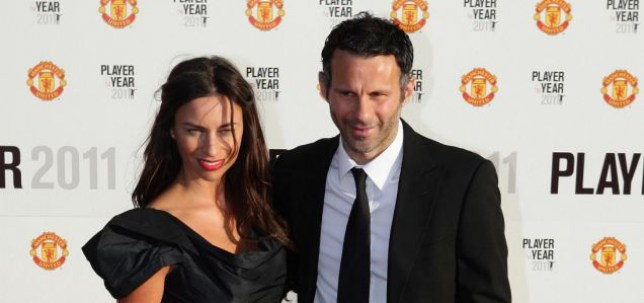 File photo dated 18/05/11 of Manchester United's Ryan Giggs with his wife Stacey. The footballer who has been at the centre of a gagging order over a relationship with reality TV star Imogen Thomas was named by Liberal Democrat MP John Hemming in the House of Commons today. PRESS ASSOCIATION Photo. Issue date: Monday May 23, 2011. See PA story LEGAL Injunction. Photo credit should read: Dave Thompson/PA Wire
