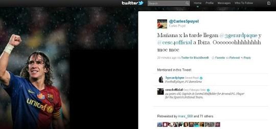 Carlos Puyol's Twitter