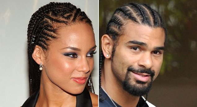 Cornrows Alicia Keys and David Haye