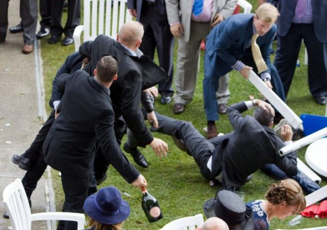 fight at ascot, Royal Ascot, brawl