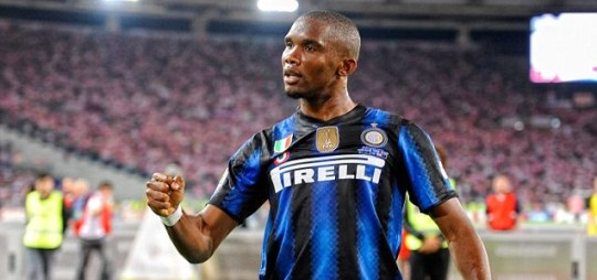 Samuel Eto'o of Inter Milan