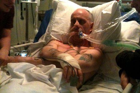 Darren Ashall paralysed by pork chop