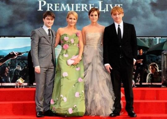 Daniel Radcliffe, JK Rowling, Emma Watson and Rupert Grint