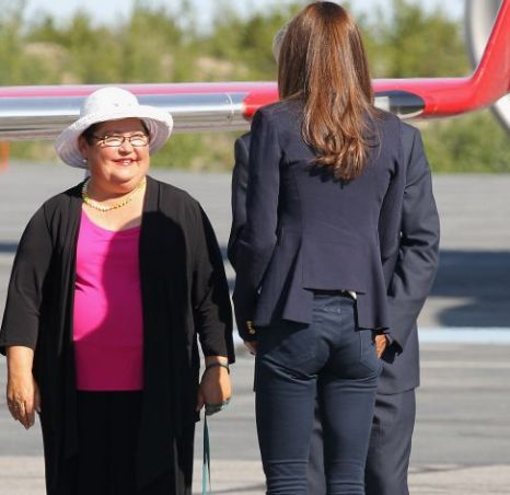 Kate Middleton - Duchess of Cambridge - in Canada, shortly before boarding a plane for California (Picture: Getty)