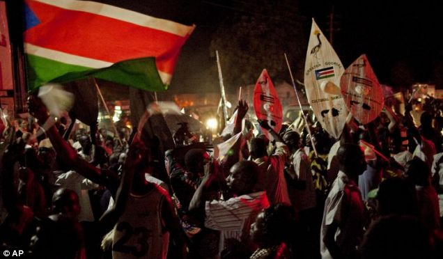Thousands of Southern Sudanese celebrate South Sudan's Independence in Juba, South Sudan
