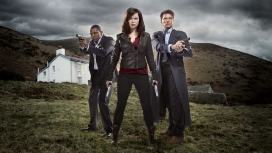 Mekhi Phifer, Eve Myles and John Barrowman star in Torchwood: Miracle Day