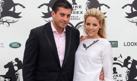 The TOWIE couple looked close despite breaking up months ago