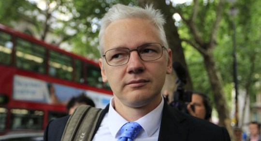 Wikileaks founder Julian Assange arrives at the High Court in London for his extradition appeal hearing (AP)