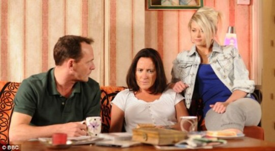 EastEnders Lola, Billy and Julie Mitchell