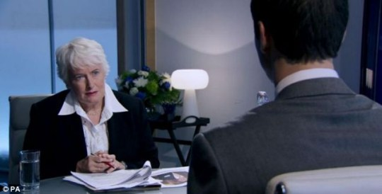 Margaret is unimpressed with Jim during the interview