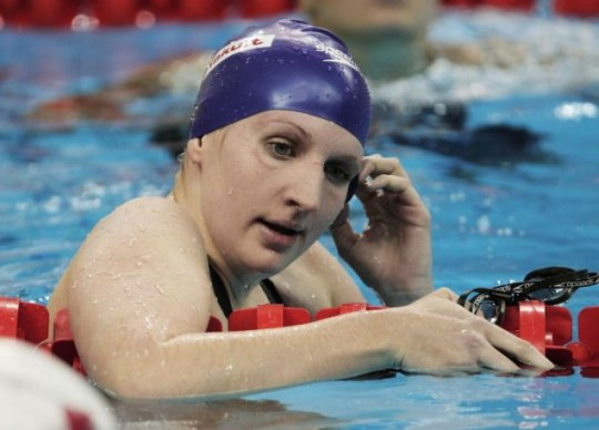 Rebecca Adlington of Great Britain looks on after she swam in heat five of the Women's 200m Freestyle heats during Day Eleven of the 14th FINA World Championships at the Oriental Sports Center (Picture: Getty Images)