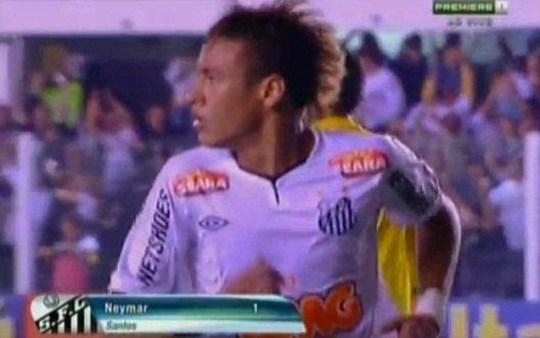Neymar goal Santos Flamengo