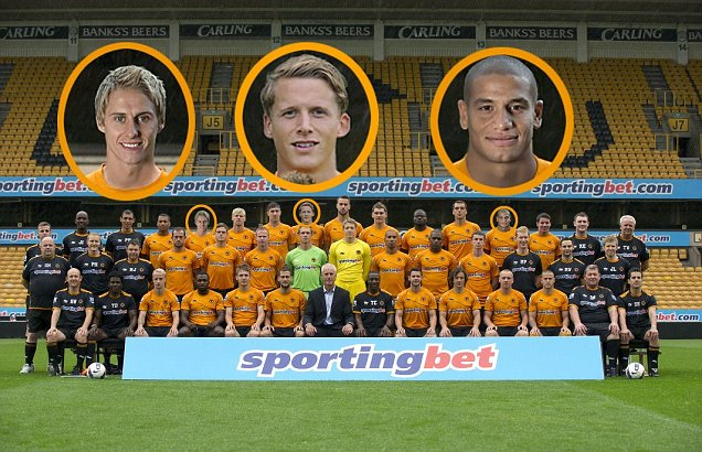 Wolves team photo photoshop David Edwards, Christophe Berra, Adlene Guedioura