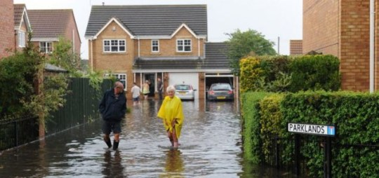 Summer storms flood east England