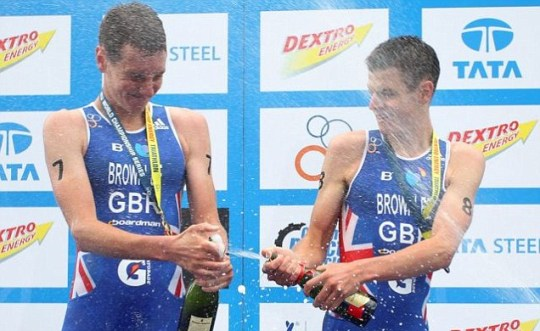 Alistair and Jonny Brownlee, London triathlon