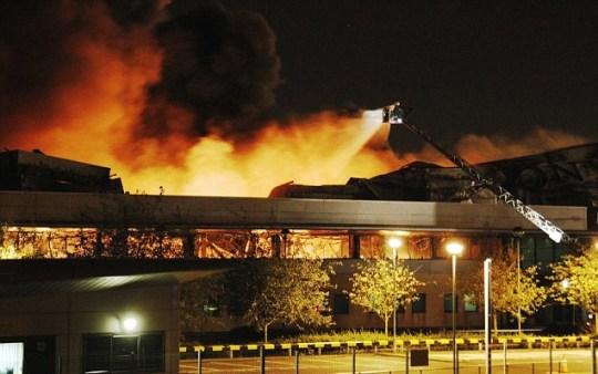 Sony warehouse fire in Enfield