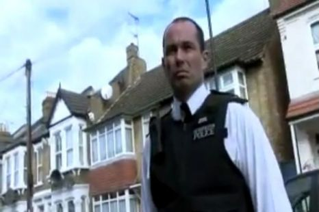 The clash between Police and Brian Harvey caught on camera