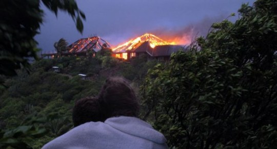 Sir Richard Branson, Kate Winslet, fire