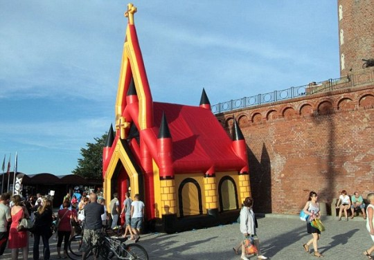 inflatable church Russia