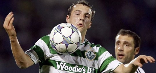 Karl Sheppard dive Shamrock Rovers Partizan