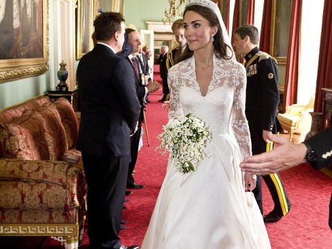 Sarah Burton talks about how she's not going to talk about Kate Middleton's wedding dress