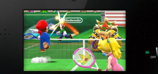 Mario Tennis – note the new Misty Pink 3DS
