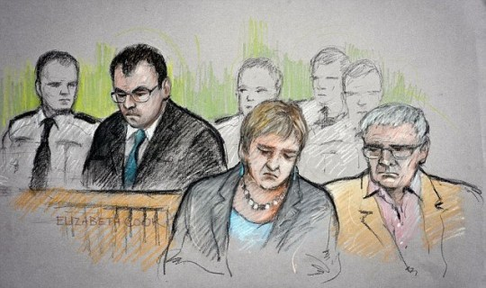 Mr and Mrs Yeates saw Tabak for the first time at the hearing into the death of their daughter (Picture: PA)