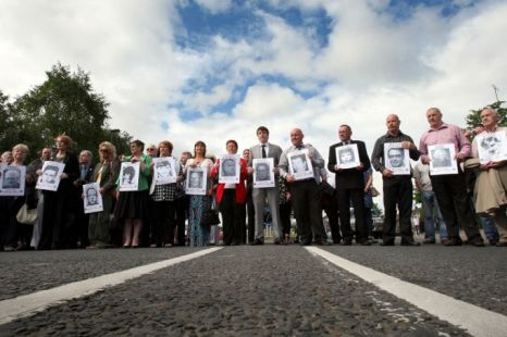 Relatives of those shot dead on Bloody Sunday marching
