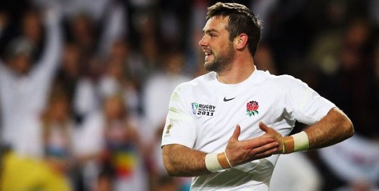 Ben Foden try celebration England v Romania Una Healy Rugby World Cup 2011
