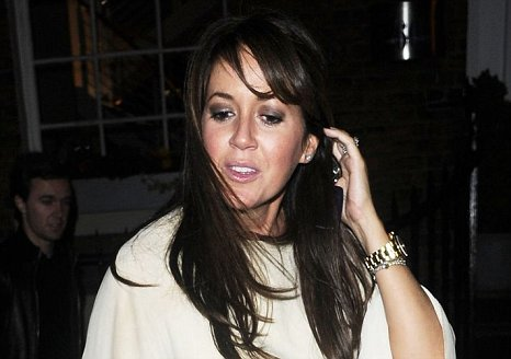 Sheree Murphy photographed outside the restaurant where she held her leaving do (Picture: Xposure)