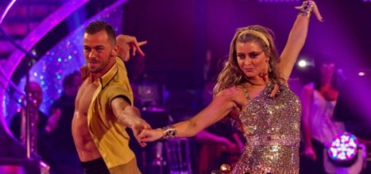 Strictly Come Dancing Holly Valance dress